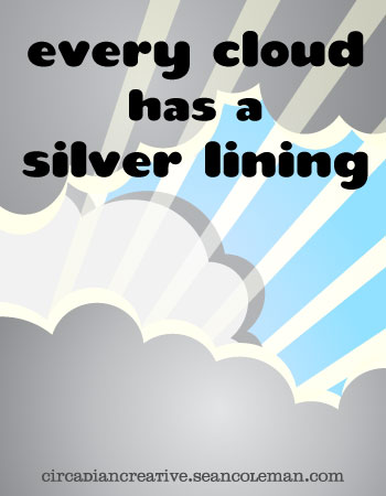 book cover design project 11 - every cloud has a silver lining