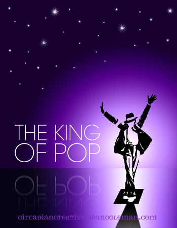 book cover design project 23 - the king of pop