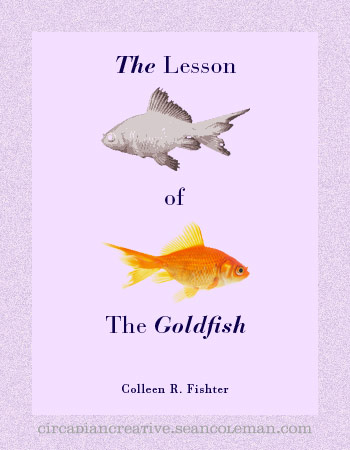 book cover design project #29 - the lesson of the goldfish