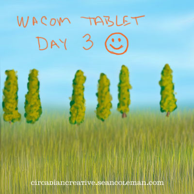 wacom tablet day 3