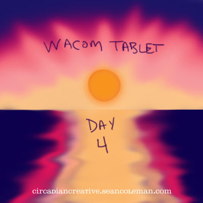 wacom tablet day 4