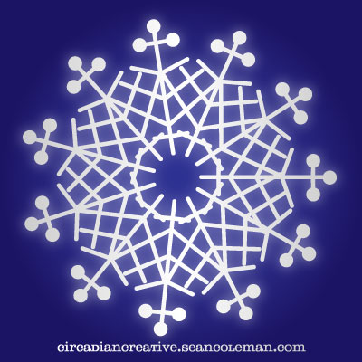 daily design 256 snow flake