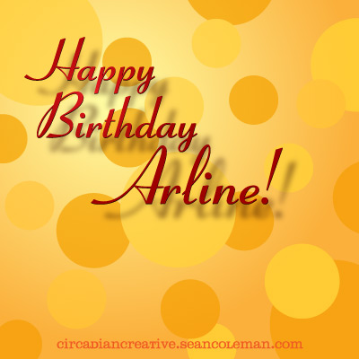 daily design 270 happy birthday arline