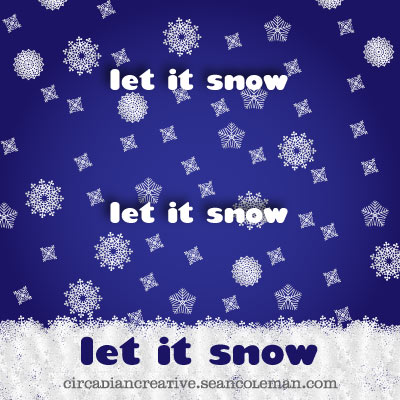 daily design 271 let it snow