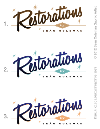 creation 14 restorations logo color ideas