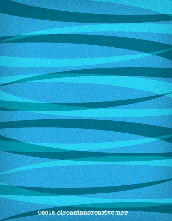 creation 32 blue and teal pattern