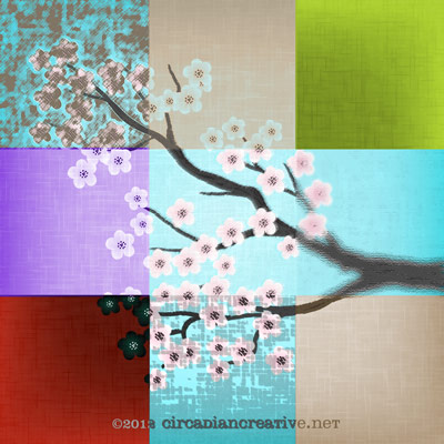 creation 91 cherry blossoms patchwork